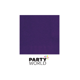 Deep Purple Luncheon Napkins (50)