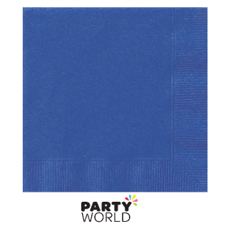 Royal Blue Beverage Napkins (50) Unique