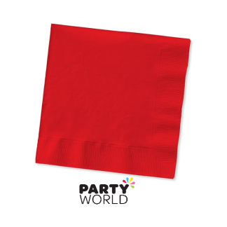 Ruby Red Beverage Napkins (50)