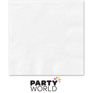 White Beverage Napkins (50)