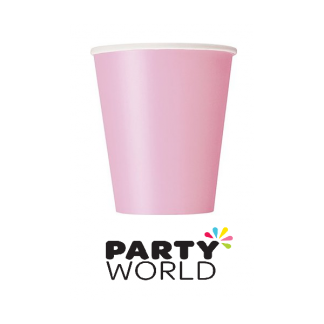 Lovely Pink Paper Cups (8)