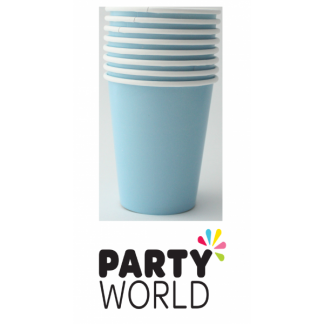 Powder Blue Paper Cups (8)