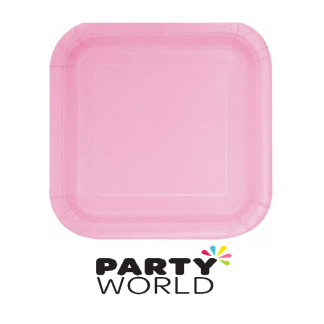 Lovely Pink Square 9in Paper Plate (14)