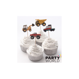 Transport / Construction Cupcake Pick Toppers 24pk)