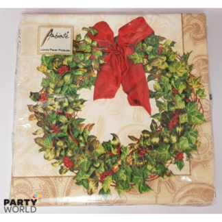 Ambiente Christmas Welcome Wreath Napkins (20)