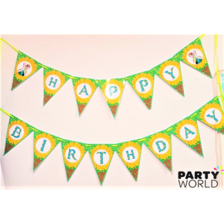 Frozen Fever Elsa and Anna Birthday Bunting