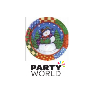 Winter Snowman 7in Paper Plates (8)