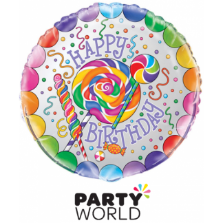 Candy Party Foil Balloon