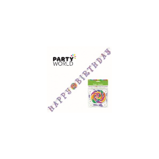 Candy Party Happy Birthday Banner (1.57m)