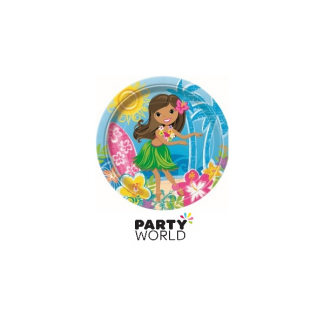 Hula Beach Party Plates 9in (8)