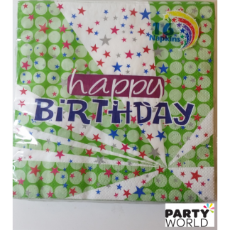 Happy Birthday Star Luncheon Napkins (16)
