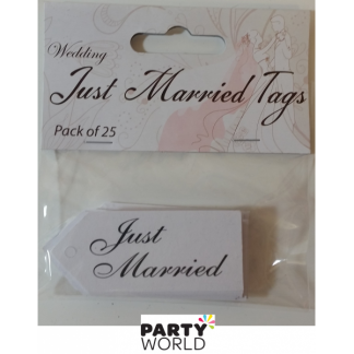 Just Married Wedding Tags (25)