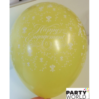 Happy Engagement Yellow Balloons (5pk)