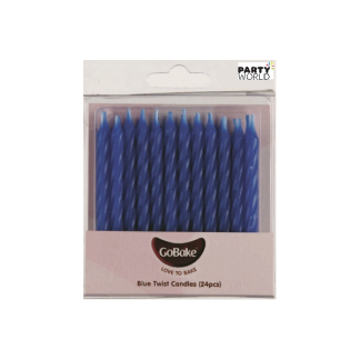 Blue Twist Candles (24pk)