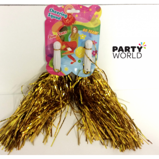 Cheer Pom Poms - Gold (2)