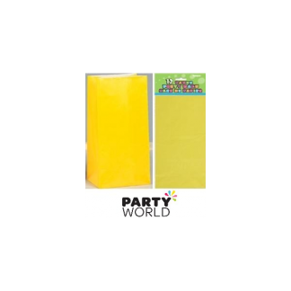 Paper Party Bags - Yellow (12)