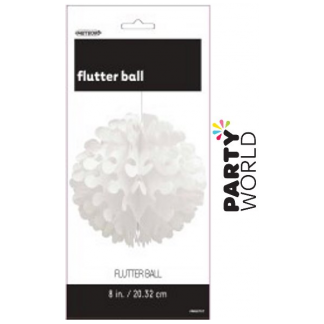 8in Flutter Ball - White