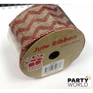 Chevron Jute Ribbon - 2.7m x 50mm