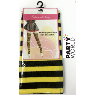 Striped Stockings - Yellow and Black