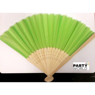 Hand Folding Fan - Lime Green