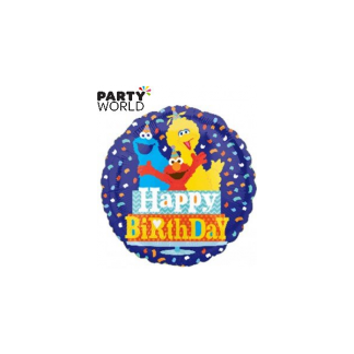Happy Birthday Sesame Street Foil Balloon