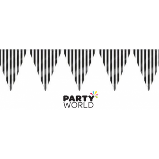 Stripe Bunting Flag Banner - Black (3.6m)