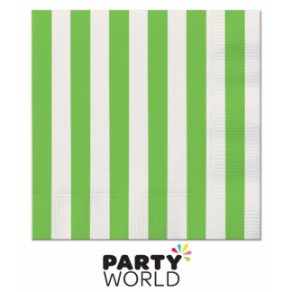Stripe Luncheon Napkins - Lime Green (16pk)