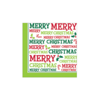 Merry Christmas Luncheon Napkins (20pk)