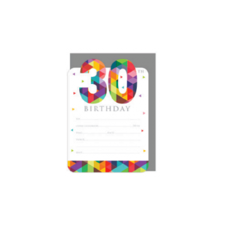 30th Party Invitations (16pk)