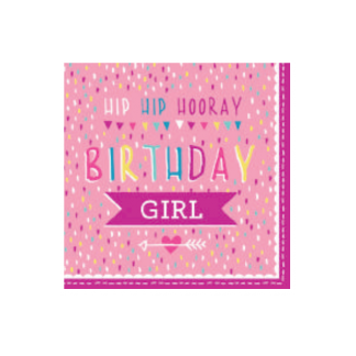 Birthday Girl Luncheon Napkins (20pk)