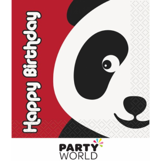 Birthday Panda Beverage Napkins (16pk)