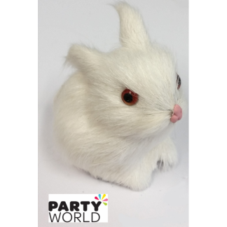 Small White Rabbit Figure