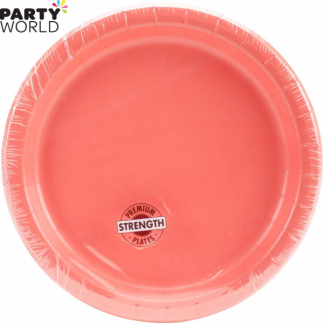 Coral Paper Lunch Plates (24pk)