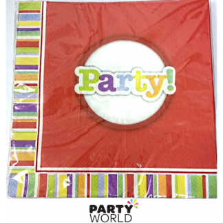 Party Rainbow Luncheon Napkins (20pk)