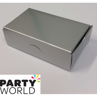 Silver Paper Treat Boxes (10pk)