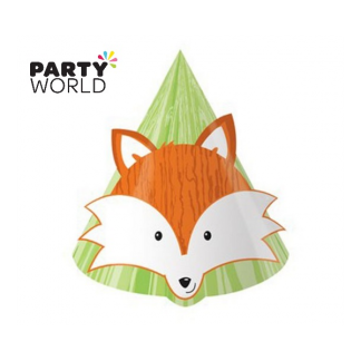 Forest Fox Paper Hats (8pk)