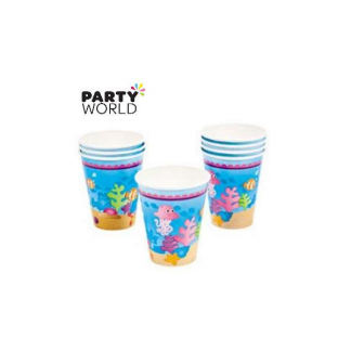Mermaid Party Paper Cups (8pk)