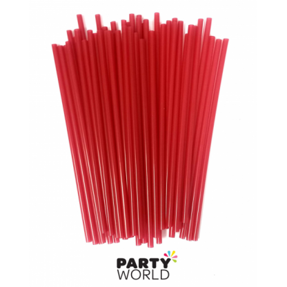 Red Cocktail Straws (50pk)