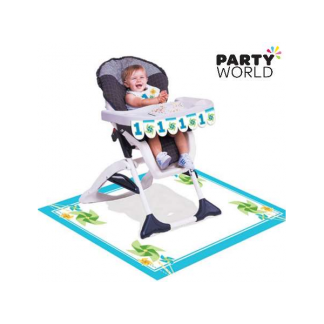 Turning One Boy High Chair Kit