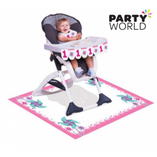Turning One Girl High Chair Kit