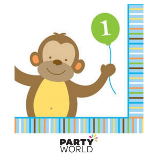 Sweet at One Monkey Beverage Napkins (16pk)