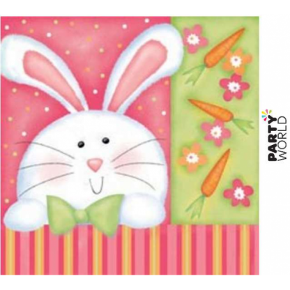 Cheerful Easter Bunny Beverage Napkins (18pk)
