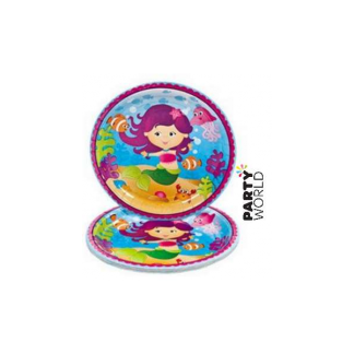 Mermaid Party Paper Lunch Plates (8pk)