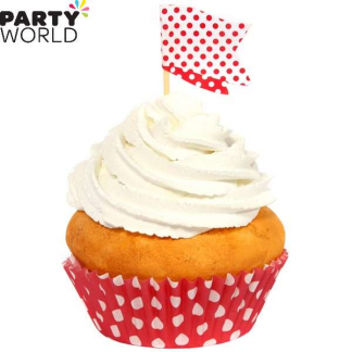 Polka Dot Cupcake Kit - Red (24pk)