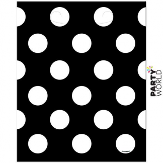 Polka Dot Loot Bags - Black (8pk)