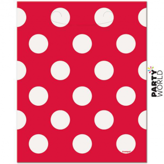 Polka Dot Loot Bags - Red (8pk)