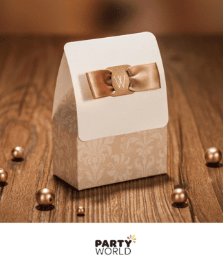 champagne wedding boxes