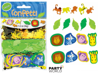 jungle animals confetti