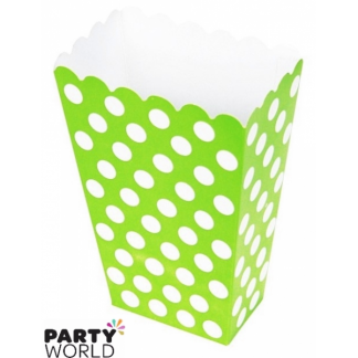 Polka Dot Treat Boxes - Lime Green (8pk)
