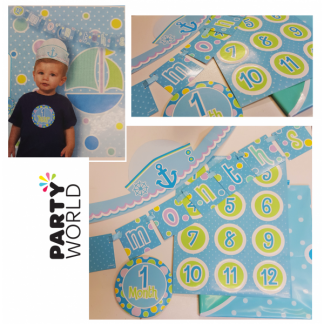 Baby Boy First Year Monthly Photo Kit